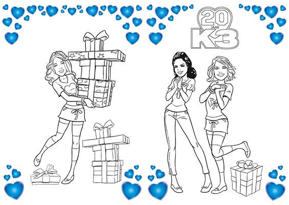 K3 kleurplaat 2