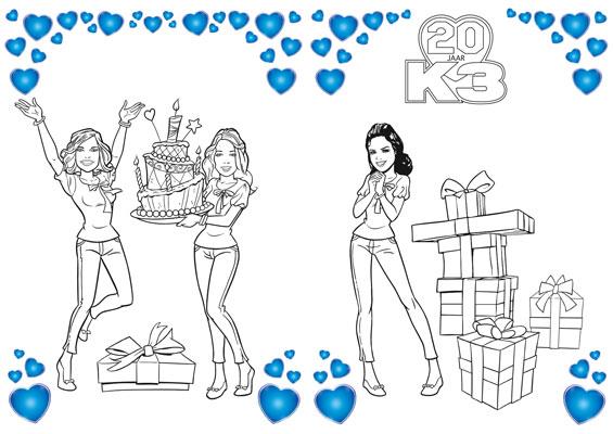 K3 kleurplaat 3
