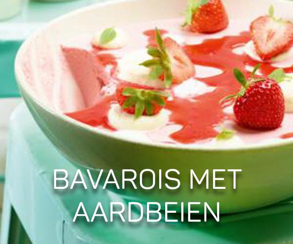 Bavarois met aardbeien