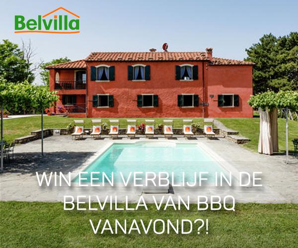 Win een verblijf in de Belvilla van BBQ vanavond?!