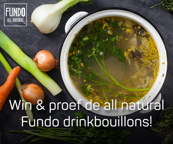 Win en proef de all natural Fundo drinkbouillons.