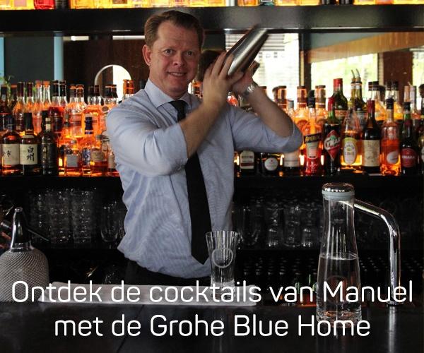Ontdek de cocktails van Manuel met de Grohe Blue Home