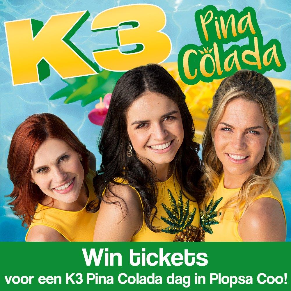 Win tickets voor een K3 Pina Colada dag in Plopsa Coo!