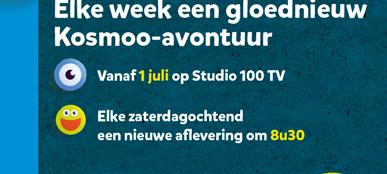 Elke week een gloednieuw Kosmoo-avontuur. Vanaf 1 juli op Studio 100 TV. Elke zaterdagochtend een nieuwe aflevering om 8u30.