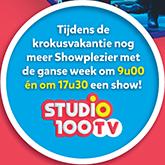 Tijdens de krokusvakantie nog meer Showplezier op Studio 100 TV