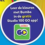 Leer de kleuren met Bumba in de gratis Studio 100 GO app!