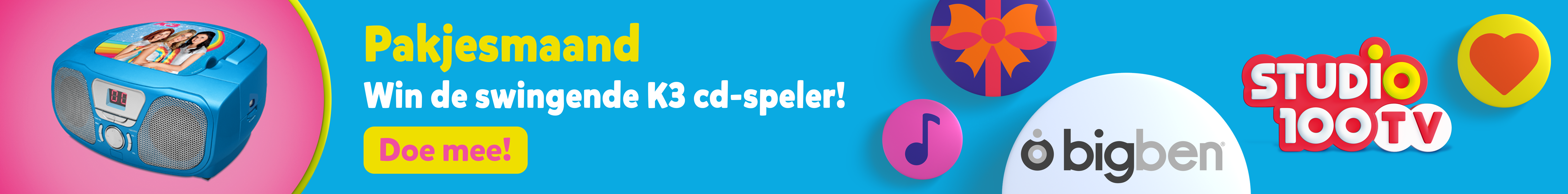 Win de swingende K3 Cd-speler