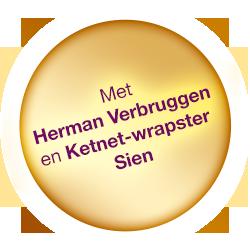 Met Herman Verbruggen en Ketnet-wrapster Sien
